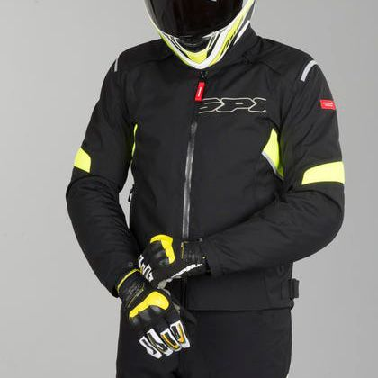 Jaqueta Spidi Flash H2Out Black/Yellow