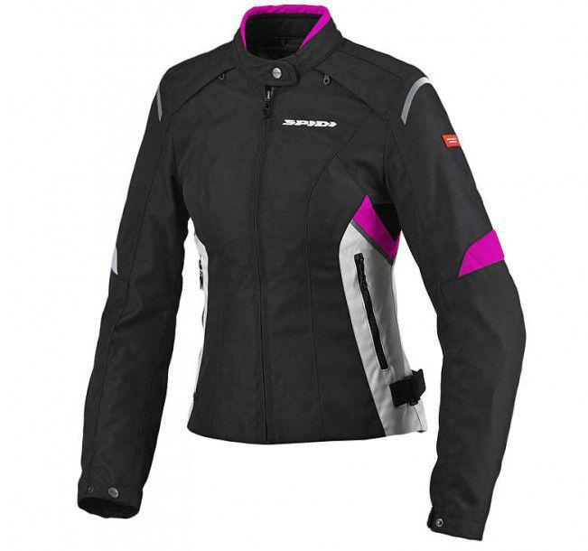 Jaqueta Spidi Flash H2Out Lady Black/Fuchsia  - Nova Centro Boutique Roupas para Motociclistas
