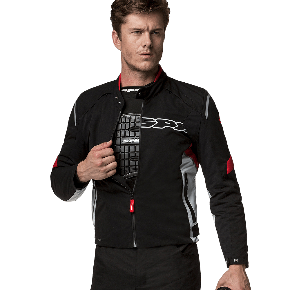 Jaqueta Spidi Flash H2Out Black/Red - SUPEROFERTA!