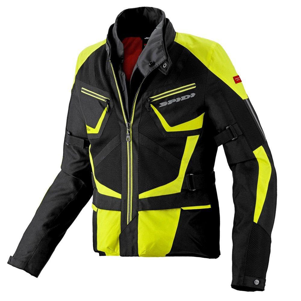 Jaqueta Spidi Ventamax Preto/Amarelo H2Out e Respirável - Big Trail   - Nova Centro Boutique Roupas para Motociclistas