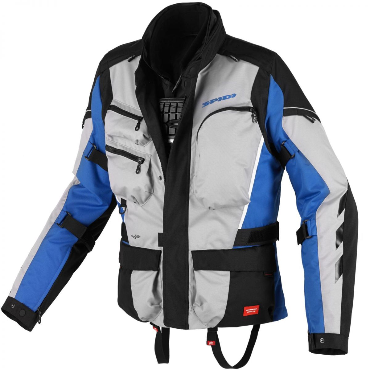 Jaqueta Spidi Voyager 3 H2Out Dark/ Grey/Blue ( Big Trail - Parka ) - SUPEROFERTA!