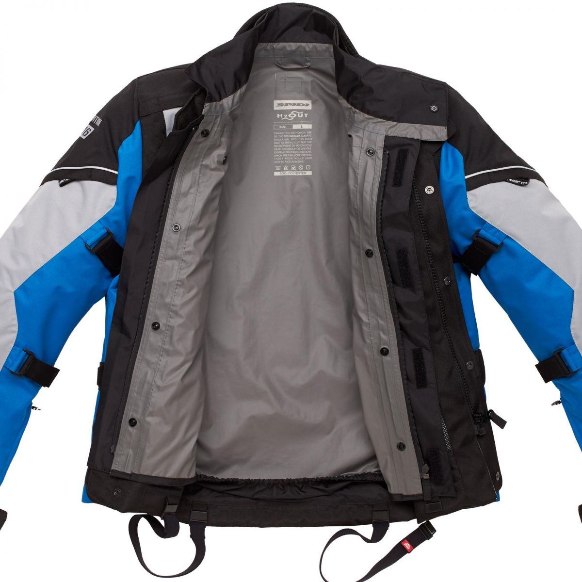 Jaqueta Spidi Voyager 3 H2Out Dark/ Grey/Blue ( Big Trail - Parka )  - Nova Centro Boutique Roupas para Motociclistas