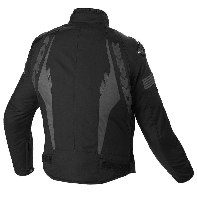Jaqueta Spidi Warrior H2OUT Preto/Cinza -100% Impermeável  - Nova Centro Boutique Roupas para Motociclistas