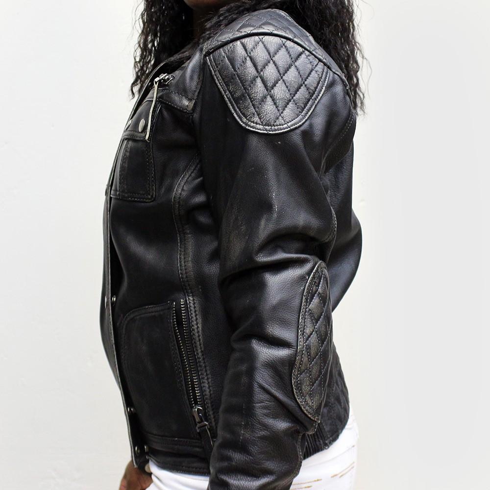 Jaqueta Tutto Custom Couro Lady Feminina  - Nova Centro Boutique Roupas para Motociclistas