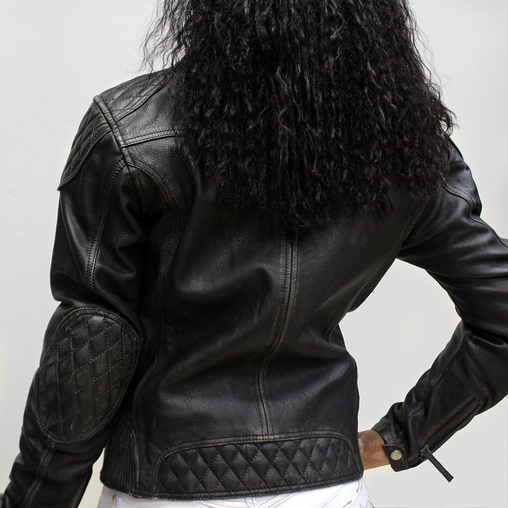 Jaqueta Tutto Couro Custom Lady Feminina  - Nova Centro Boutique Roupas para Motociclistas