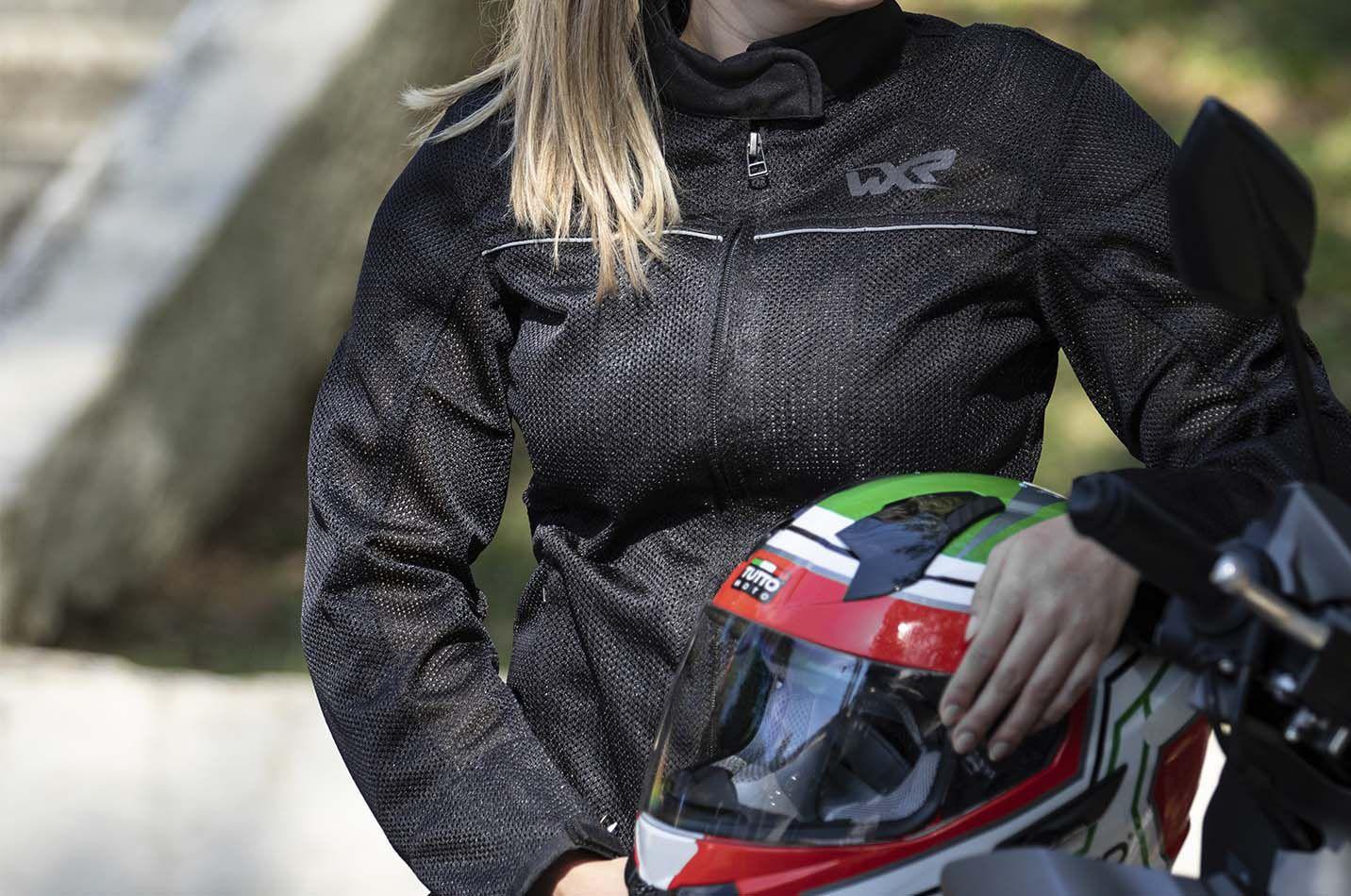 Jaqueta WXR Feminina Supervent Preto - Ventilada  - Nova Centro Boutique Roupas para Motociclistas