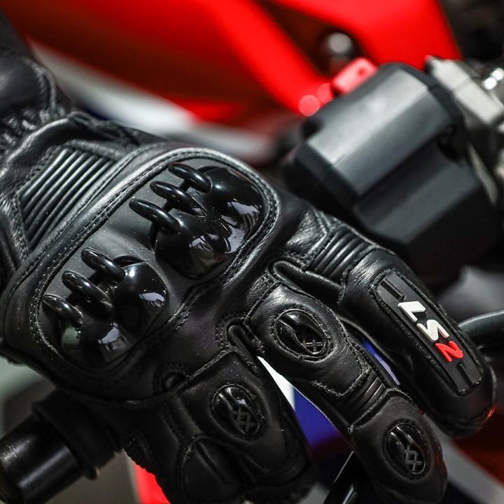 Luva LS2 Swift Racing - Preta  - Nova Centro Boutique Roupas para Motociclistas