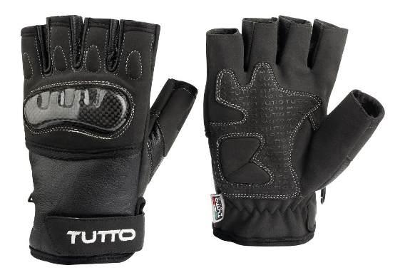 Luva Tutto Half Finger - Preto  - Nova Centro Boutique Roupas para Motociclistas