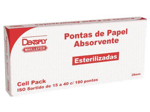 CONE DE PAPEL CEL PACK DENTSPLY (ESTERILIZADO)  - Dental Curitibana