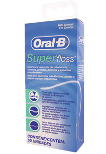FIO DENTAL SUPER FLOSS ORAL B  - Dental Curitibana