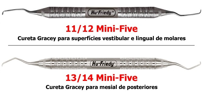CURETAS GRACEY HU FRIEDY MINI FIVE - Dental Curitibana