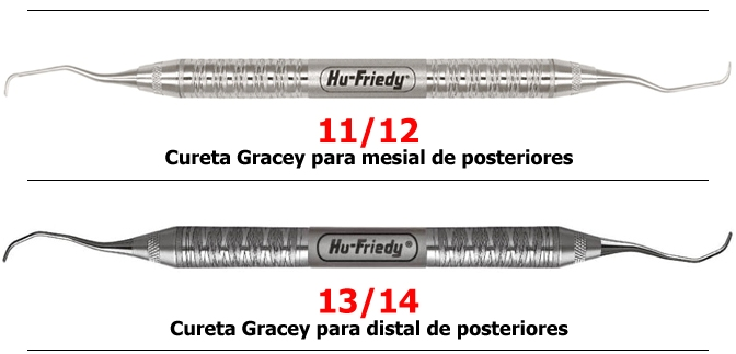CURETAS GRACEY HU FRIEDY PADRAO - Dental Curitibana