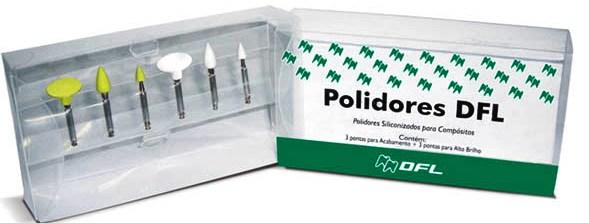 POLIDORES DE SILICONE DFL C/6 SORTIDO  - Dental Curitibana