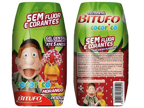 CREME DENTAL COCORICO INFANTIL-BITUFO  - Dental Curitibana