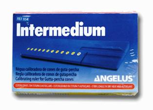 REGUA DE ENDO CALIBRADORA INTERMEDIUM ANGELUS  - Dental Curitibana