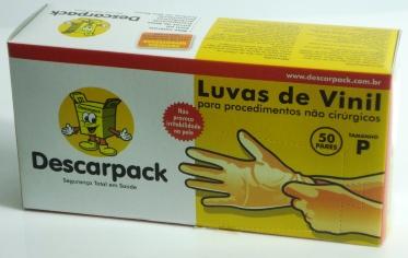 LUVA DE PROCEDIMENTO DESCARPACK VINIL  - Dental Curitibana