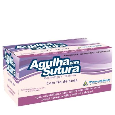 FIO DE SUTURA AGULHADO TECHNEW SEDA 3-0  - Dental Curitibana