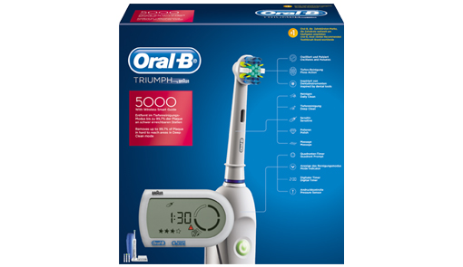 ESCOVA ORAL B PROFESSIONAL CARE TRIUMPH 5000 (BATERIA)  - Dental Curitibana