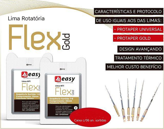 LIMA EASY FLEX GOLD SORTIDA 25mm  - Dental Curitibana