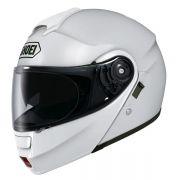 Capacete Shoei Neotec Branco Escamoteável C/ VÍDEO - Semana do Motociclista
