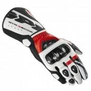 Luva Spidi STR-3 Ventilada Black/Red em Couro - Só 2XL e 3XL - BlackOferta