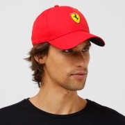 Boné Ferrari FanWear Baseball Rosso Corsa Aba Curva - Oficial Puma