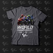 Camiseta Fan MotoGP Championship - Cinza