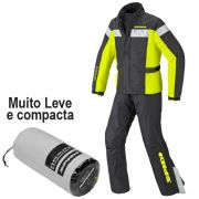 Capa de chuva Spidi Touring Kit Preta/Amarelo 100% impermeável