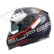 Capacete Nexx SX100 Super Speed Azul C/ Viseira Solar e Pinlock Anti-Embaçante