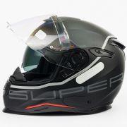 Capacete Nexx SX100 Super Speed Preto C/ Viseira Solar e Pinlock Anti-Embaçante (54 ao 62)