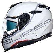 Capacete Nexx SX100 Super Speed White (Brilhante) C/ Viseira Solar e Pinlock Anti-Embaçante