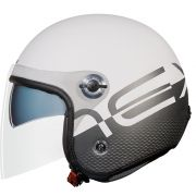 Capacete Nexx X70 City Branco/Preto Fosco Tri-composto c/ Viseira reta - BlackOferta