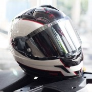 Capacete Nexx XR2 Carbon Branco + Viseira Espelhada Prata