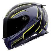 Capacete Nexx XR2 Vortex Titanium Neon - Só 61/62 Tri-Composto