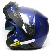 Capacete Nolan N100-5 Consistency Azul/24 Escamoteável C/ Viseira Solar - Ganhe Touca Balaclava