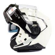 Capacete Nolan N100-5 Consistency Branco/19 Escamoteável C/ Viseira Solar - Ganhe Touca Balaclava