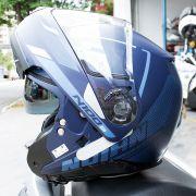 Capacete Nolan N100-5 Lumiere Azul 40 Escamoteável C/ Viseira Solar - Ganhe Touca Balaclava