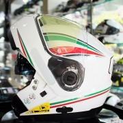 Capacete Nolan N104 Absolut Itália Branco Escamoteável Só 60 (Ganhe Touca Balaclava) N100 - Oferta