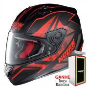 Capacete Nolan N64 Flazy Red/Black (GANHE BALACLAVA NOLAN)