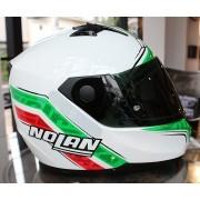 Capacete Nolan N64 Italy Metal White - Ganhe Touca Balaclava - Oferta de Natal
