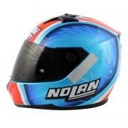 Capacete Nolan N64 Réplica Melandri Pearl Blue (GANHE BALACLAVA NOLAN)
