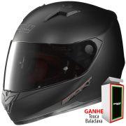 Capacete Nolan N64 Sport Flat Black - Ganhe Touca Balaclava