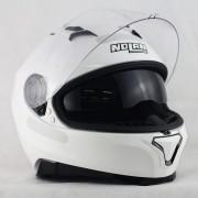 Capacete Nolan N87 Classic Metal White C/ Viseira Solar - Ganhe Touca Balaclava