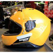 Capacete Nolan N87 Emblema Dourado/76 C/ Viseira Solar - Ganhe Touca Balaclava