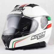 Capacete Nolan N87 Italy Metal White C/ Viseira Solar - Ganhe Touca Balaclava 58 e 60
