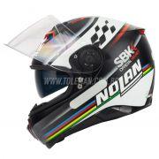 Capacete Nolan N87 SBK Flat Black C/ Viseira Solar - NOVO! - Ganhe Touca Balaclava
