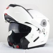 Capacete Nolan N90 Special Pure White Escamoteável  (GANHE BALACLAVA NOLAN) C/ Viseira Solar Interna