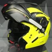 Capacete Nolan N90 Straton Amarelo Escamoteável (GANHE BALACLAVA NOLAN) C/ Viseira Solar Interna