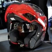 Capacete Nolan N90 Straton Black/Red Escamoteável C/ Viseira Solar Interna - (GANHE BALACLAVA NOLAN)