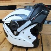 Capacete Nolan N90 Straton Branco Escamoteável  (GANHE BALACLAVA NOLAN) C/ Viseira Solar Interna